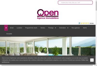 Site internet de Open Immobilier