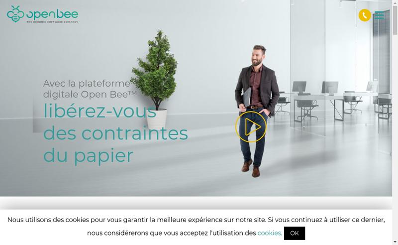 Capture d'écran du site de Open Bee France