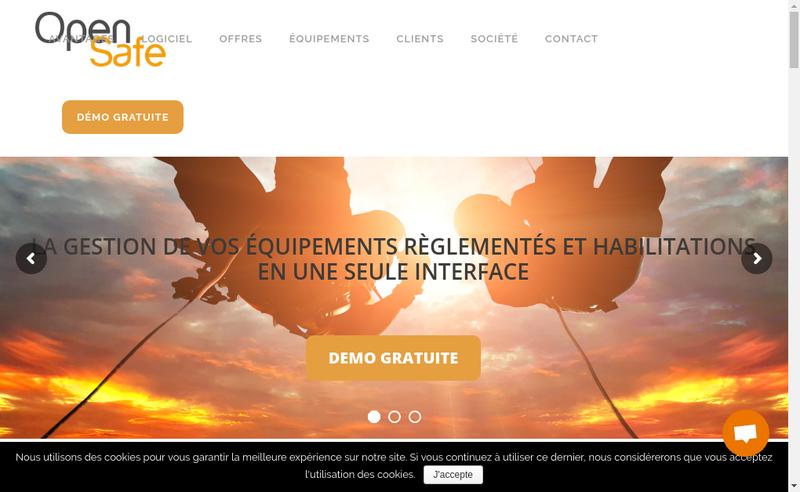 Capture d'écran du site de Opensafe