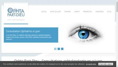 Site internet de Ophta Part Dieu