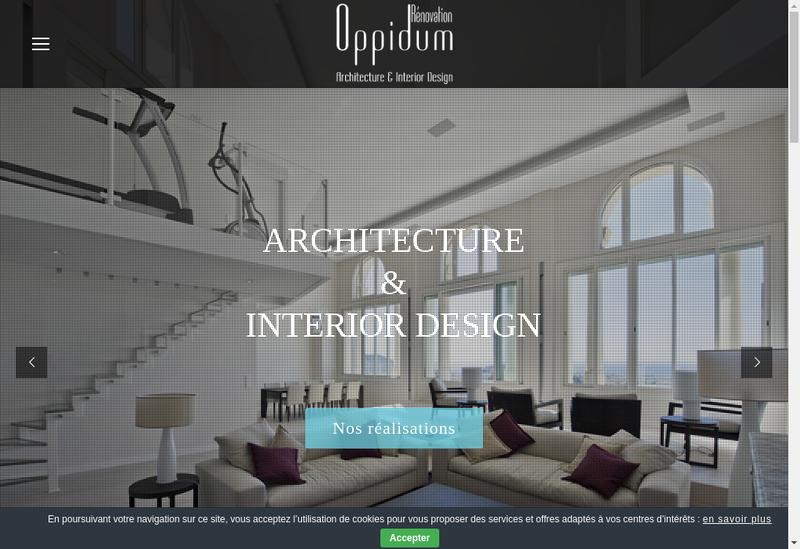 Capture d'écran du site de Oppidum Renovation