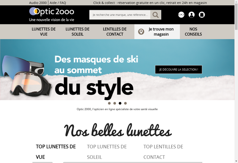 Capture d'écran du site de Gadol Optic 2000