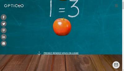 Site internet de Opticeo France