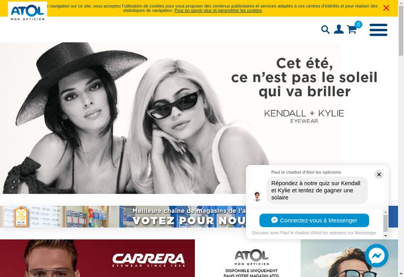 Capture d'écran du site de Atol Group