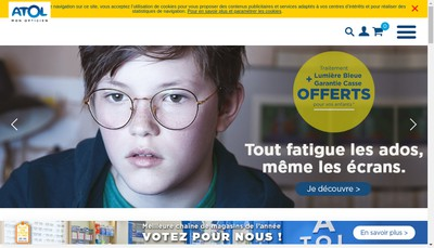 Site internet de Les Opticiens