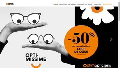 Site internet de Optim - Optim Opticiens - Opticiens Optim