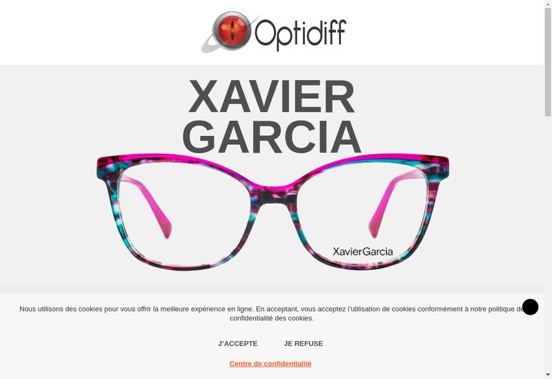 Capture d'écran du site de Optidiff