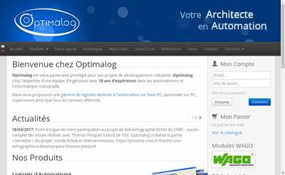 Site internet de Optimalog