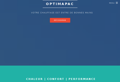 Capture d'écran du site de Optimapac