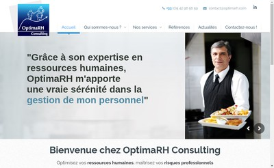 Site internet de Optimarh Consulting-Formations- Manage