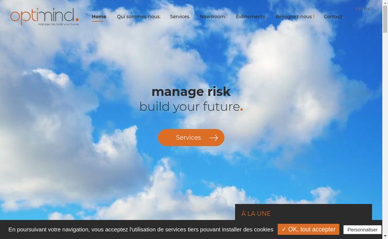Capture d'écran du site de Optimind Holding