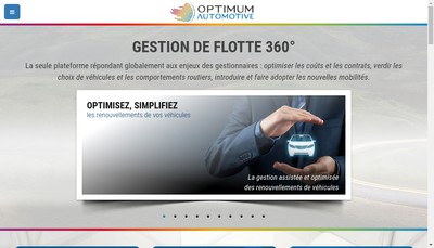 Site internet de Optimum Automotive