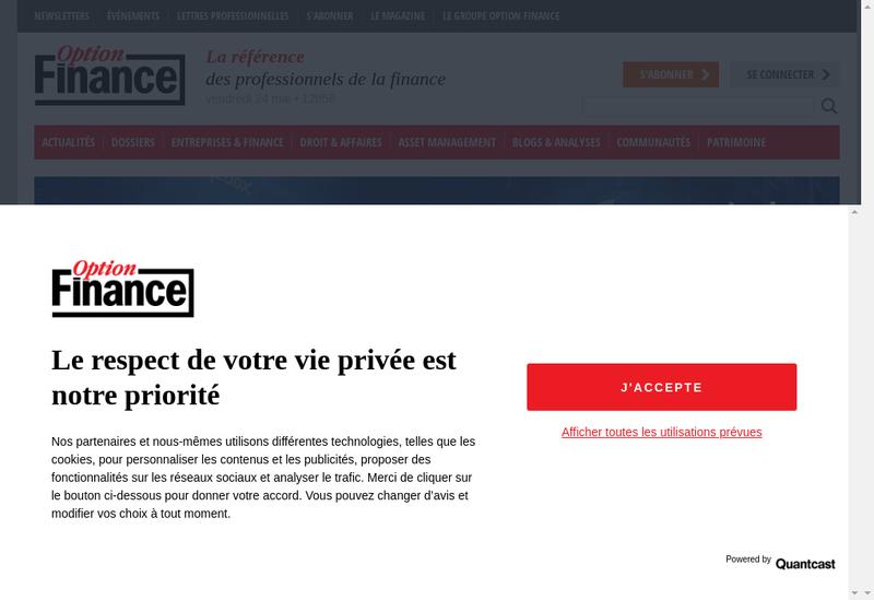 Capture d'écran du site de Option Finance