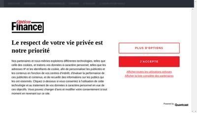 Site internet de Option Finance