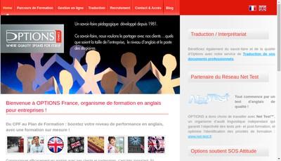 Site internet de Options