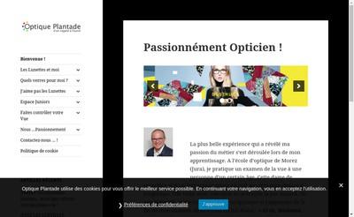 Site internet de Optique Plantade