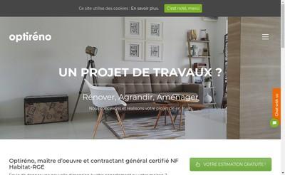 Site internet de Optireno