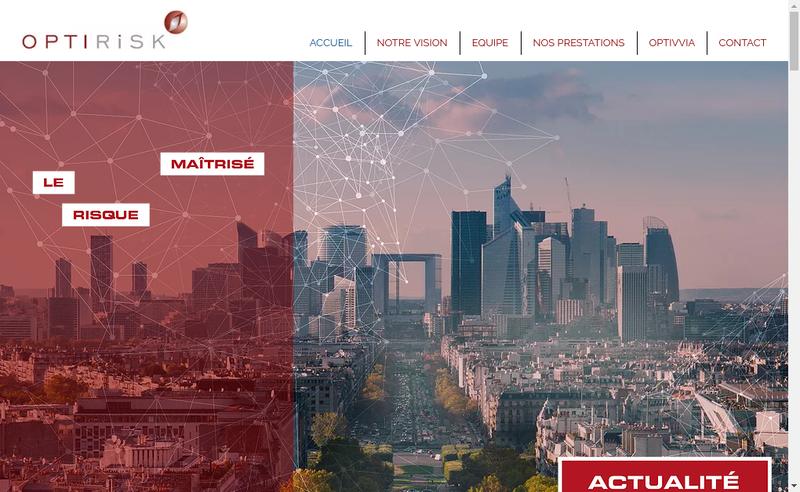 Capture d'écran du site de Optirisk SAS