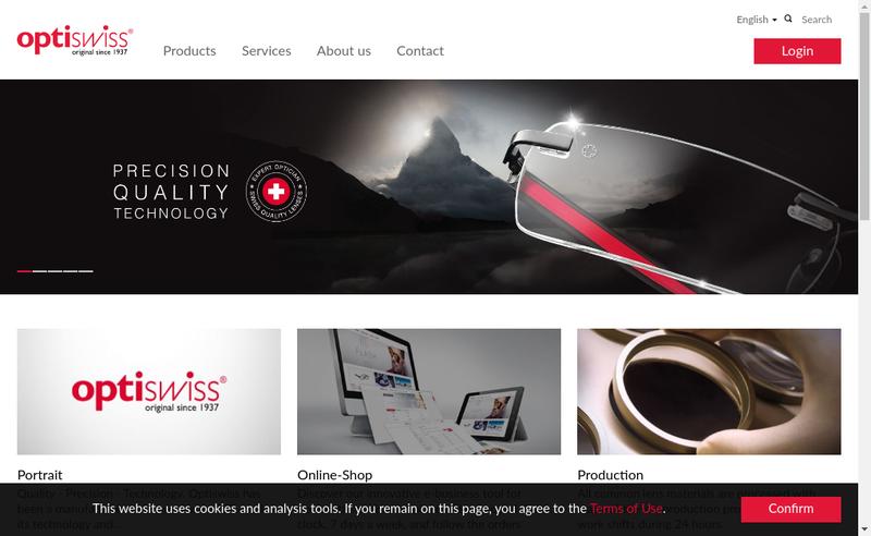 Capture d'écran du site de Optiswiss France