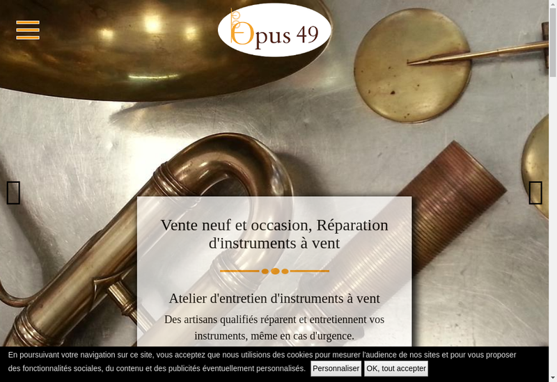 Capture d'écran du site de Opus 49