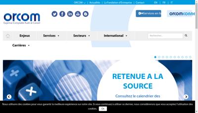 Capture d'écran du site de Orcom International