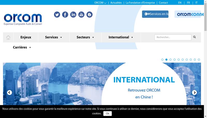 Capture d'écran du site de Orcom Tours