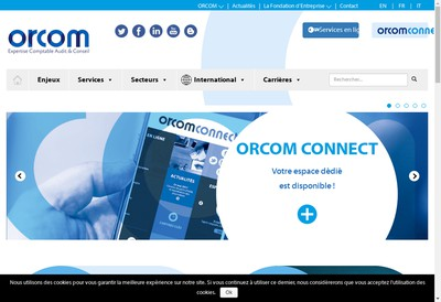 Site internet de Orcom Tours