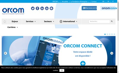 Site internet de Orcom et Associes SM