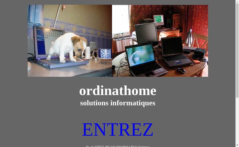 Capture d'écran du site de Ordinathome