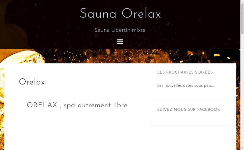 Capture d'écran du site de O Relax