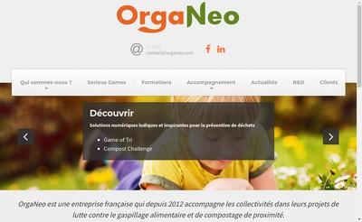 Site internet de Organeo