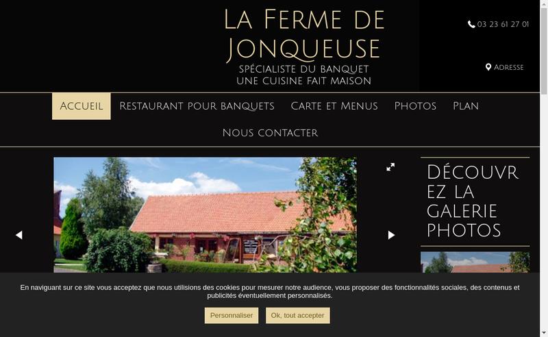 Capture d'écran du site de La Ferme de Jonqueuse