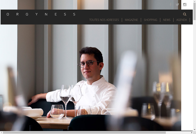 Capture d'écran du site de Dog Man Star