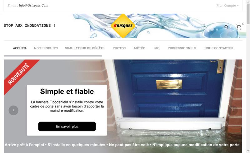 Capture d'écran du site de Orisques Distribution