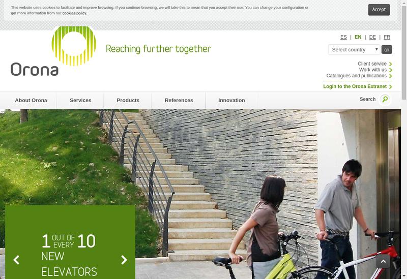 Capture d'écran du site de Orona Ile de France