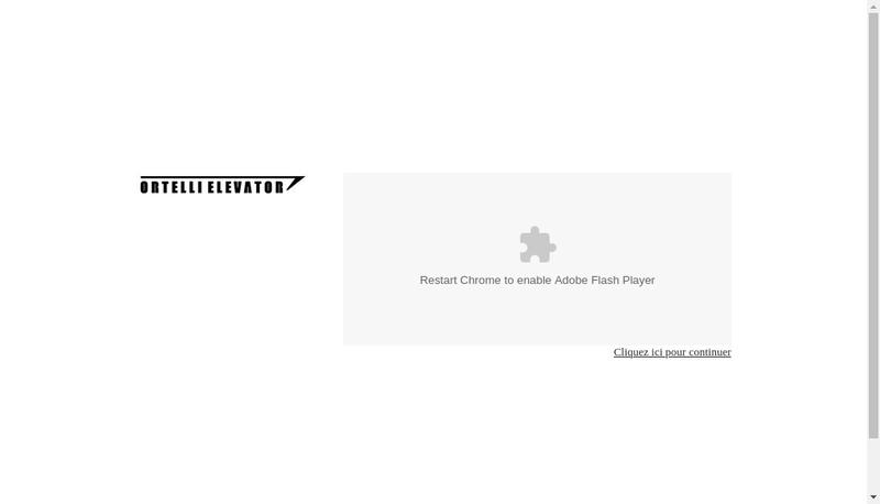 Site internet de Ortelli Elevator