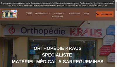 Site internet de Orthopedie Kraus