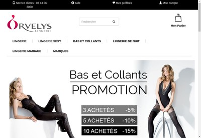 Site internet de Orvelys Lingerie Seduiza