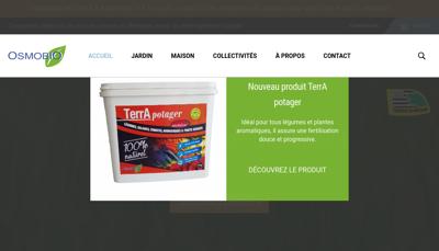 Capture d'écran du site de Osmobio