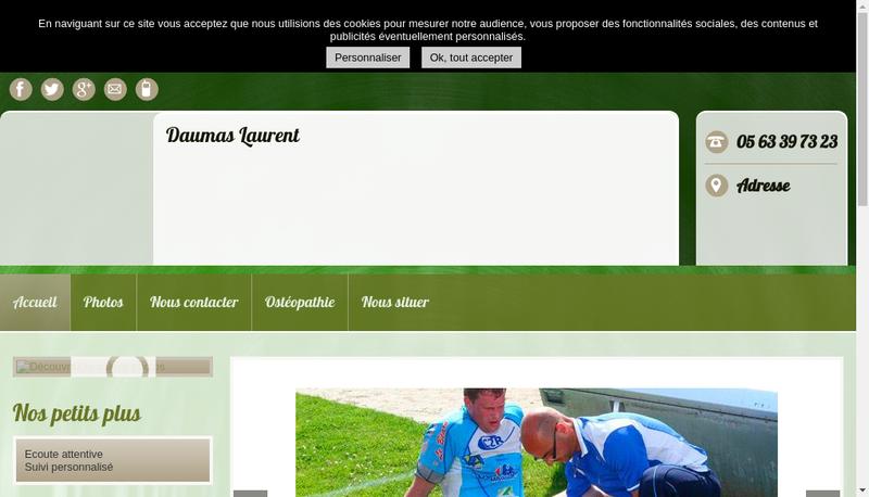 Capture d'écran du site de Laurent Daumas