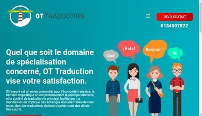 Site internet de Ot Traduction