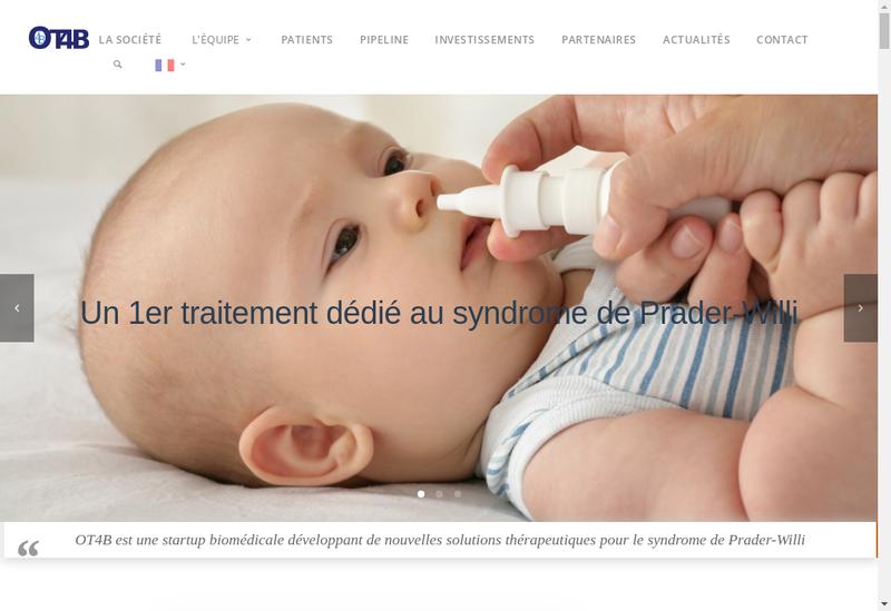 Capture d'écran du site de Ot4B