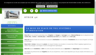 Capture d'écran du site de Otech