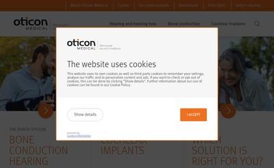 Site internet de Oticon Medical