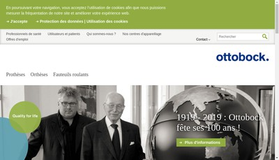 Site internet de Otto Bock France