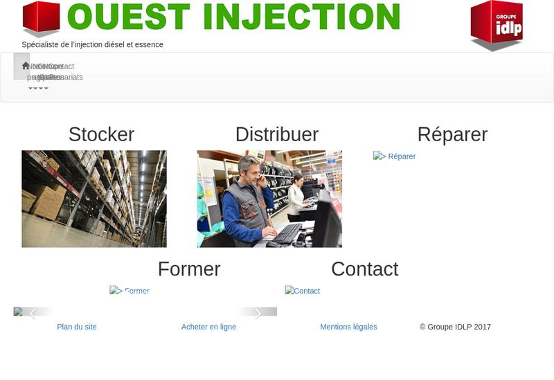 Capture d'écran du site de Ouest Injection