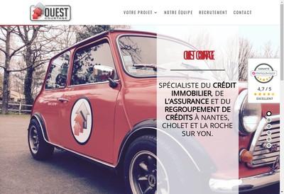 Site internet de Ouest Courtage