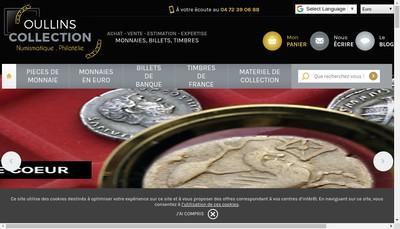 Site internet de Oullins Collections