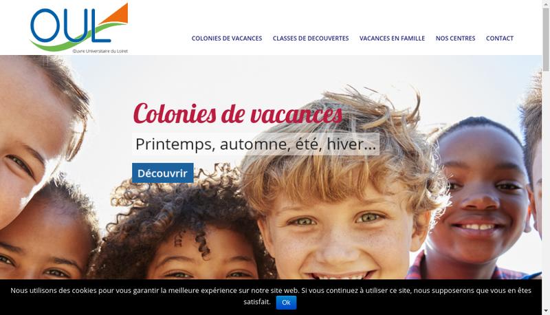 Capture d'écran du site de Oeuvre Universitaire du Loiret