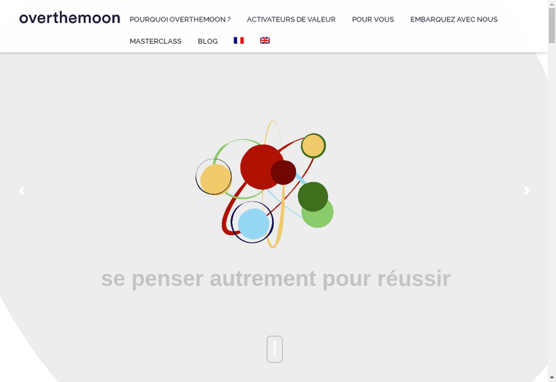 Capture d'écran du site de Overthemoon